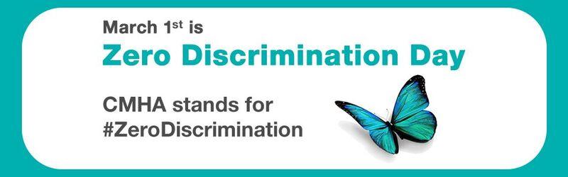 CMHA recognizes Zero Discrimination Day