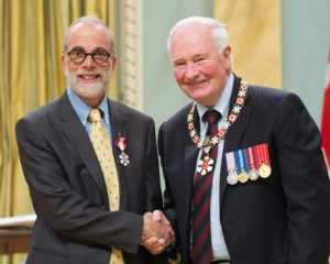 Steve Lurie with His Excellency the Right Governor General David Johnston