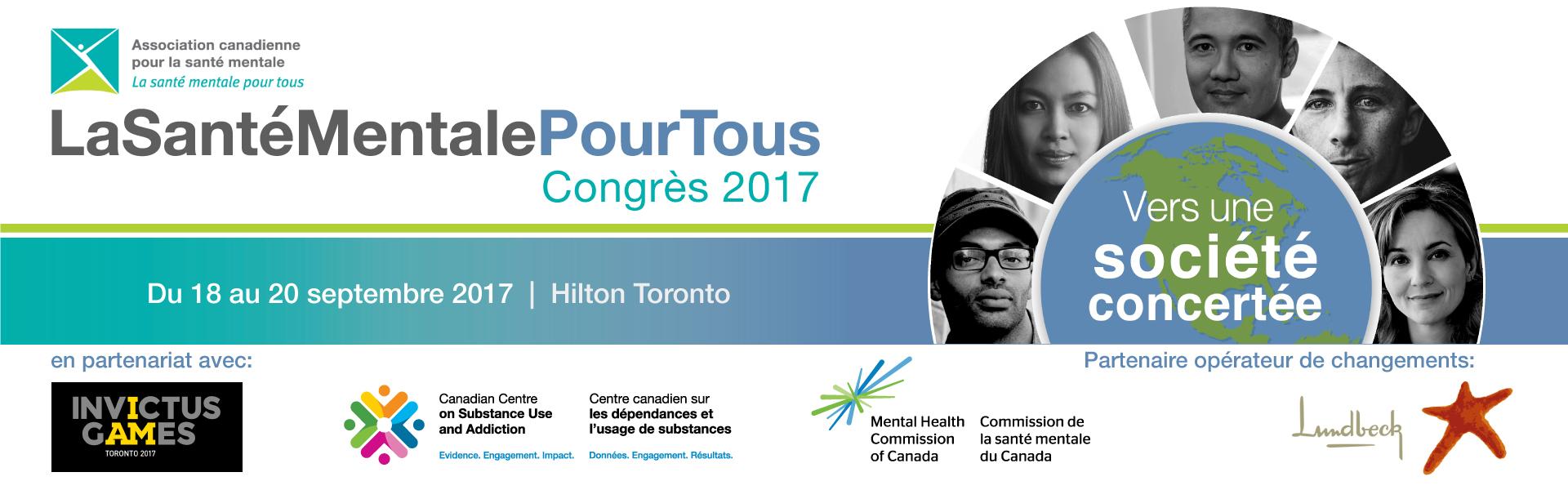 Prévoyez assister au deuxième Congrès annuel « La santé mentale pour tous » du 18 au 20 septembre