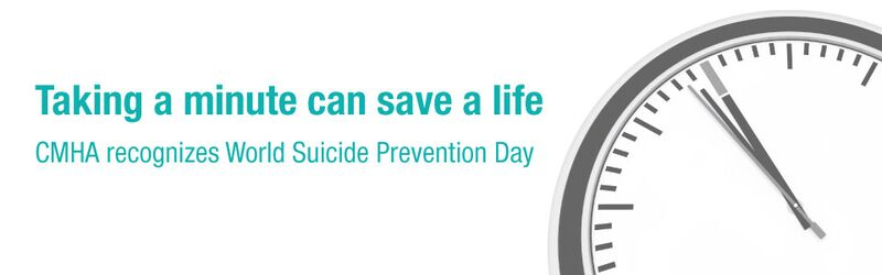CMHA commemorates World Suicide Prevention Day