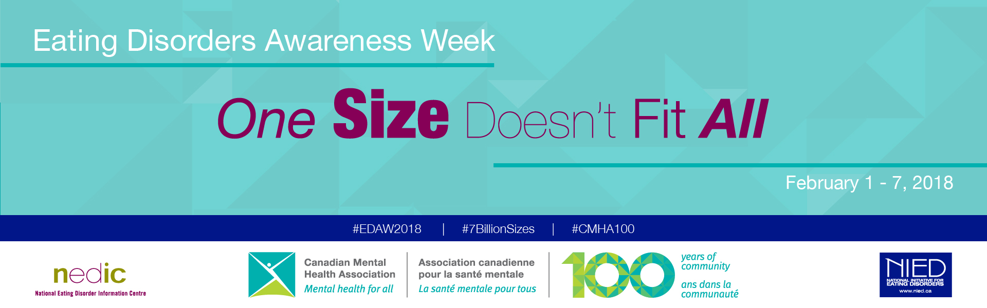 CMHA observes Eating Disorders Awareness Week, February 1-7, 2018