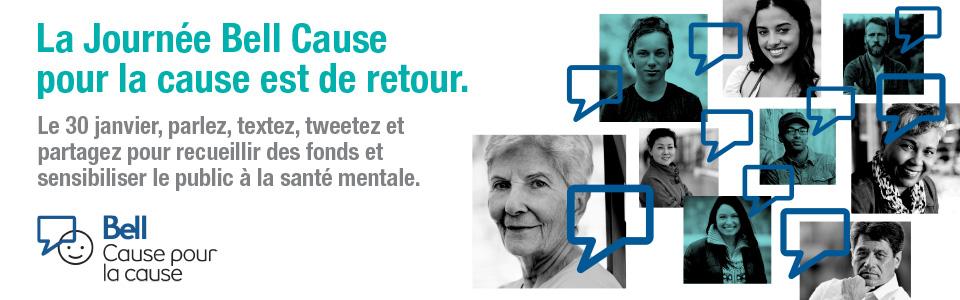 Soutenez la santé mentale à l'occasion de la Journée Bell Cause pour la cause
