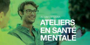Ateliers en santé mentale, un homme souriant