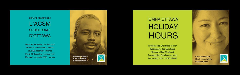 Horaire des Fêtes de l'ACSM Succursale d'Ottawa