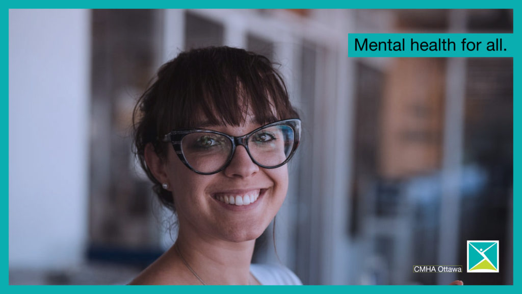 A smiling young person -- mental health for all.