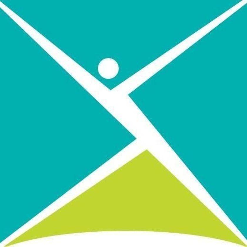 CMHA logo -- fanciful person