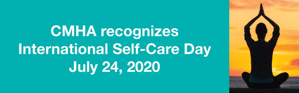 CMHA recognizes International Self-Care Day -- a person meditating