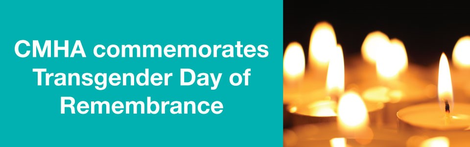 CMHA commemorates Transgender Day of Remembrance 2020 -- candles